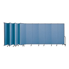"7\' 4"" H Wall-Mount Partition - 13 Panels"
