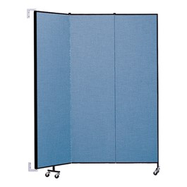 """7\' 4\"""" H Wall-Mount Partition - Three Panels"""