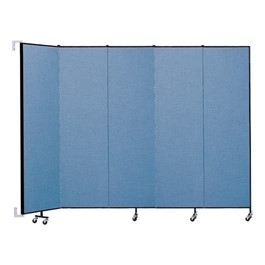 """7\' 4\"""" H Wall-Mount Partition - 5 Panels"""