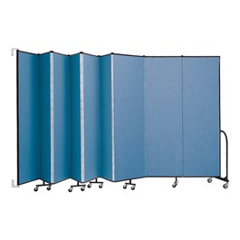 """7\' 4\"""" H Wall-Mount Partition - Shown w/ Nine Panels"""