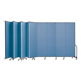 8\' H Wall-Mount Partition - 11 Panels