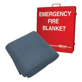 Emergency Fire Blanket w/ Cabinet
