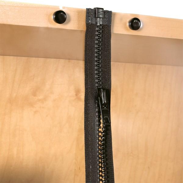 Damp/Dry Cabinet - Zipper Detail