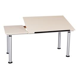 Adjustable-Height Split-Top Drafting Desk