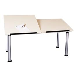 Adjustable-Height Split-Top Drafting Table
