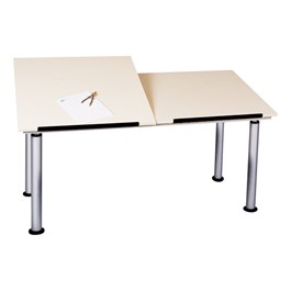 Adjustable-Height Split-Top Drafting Table
