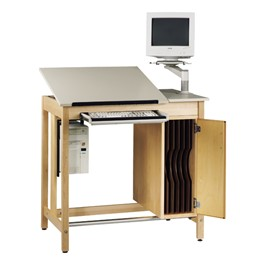 CAD Drawing Table with Board Storage