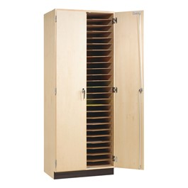 Drafting Board Storage Cabinet - Open