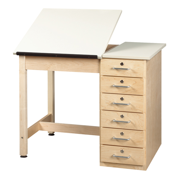 Etonnant Split Top Drafting Table W/ Drawer Base