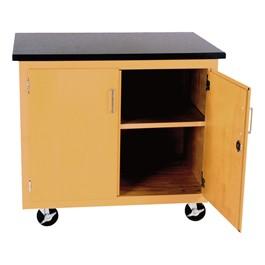 Mobile Storage Cart w/ Locking Doors
