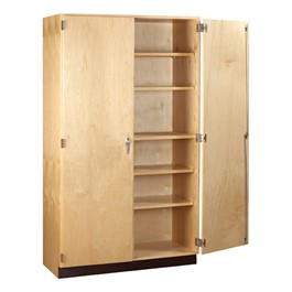 "Tall Wood Storage Cabinet (60"" W x 22\"" D x 84\"" H)"