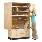 Wardrobe & Locking Wood Storage Cabinets