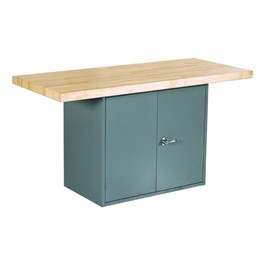 Two-Station Workbench - Two-Door Storage Unit