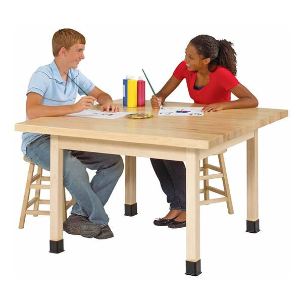 Solid Wood Art Table - Maple Top