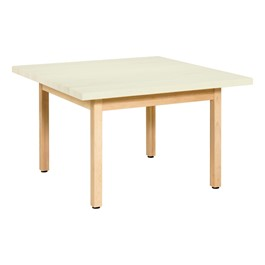 Solid Wood Art Table - Almond Laminate Top