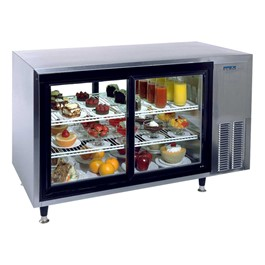 Refrigerated Display Case - Shown with doors on both sides