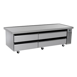 "Refrigerated Chef Base w/ Drawers (84"" L)"