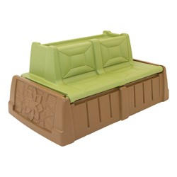 Sand & Water Convertible Bench - Green/Brown