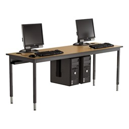 1500 Series Computer Table w/ Optional CPU Holders