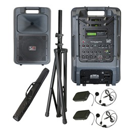 Sound Machine Portable PA System - Dual Wireless Package (Two Headset Microphones)