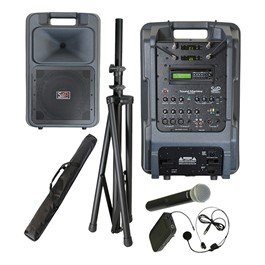 Sound Machine Portable PA System - Dual Wireless Package (One Headset & One Handheld Microphone)