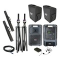 Sound Machine Deluxe Wireless Microphone Package w/ Companion Speaker – Headset