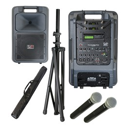 Sound Machine Portable PA System - Dual Wireless Package (Two Handheld Microphones)