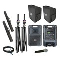 Sound Machine Deluxe Wireless Microphone Package w/ Companion Speaker – Handheld
