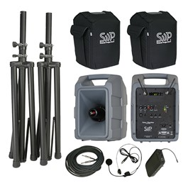 Voice Machine Portable PA System - Deluxe Wireless Package (Wireless Headset Mic & Companion Speaker)