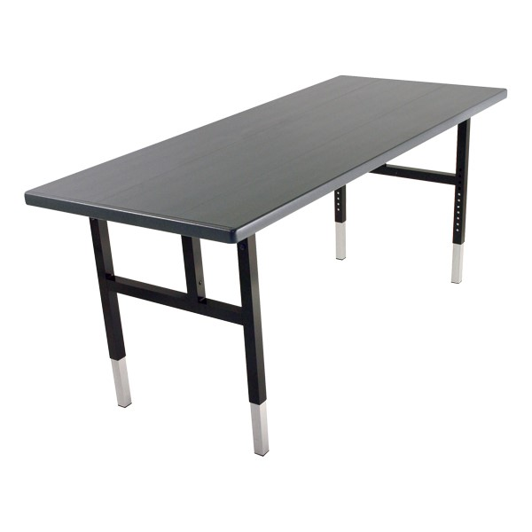 Alulite Aluminum Folding Table - Shown w/ H-style legs