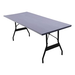 Alulite Aluminum Folding Table - Shown w/ Wishbone legs