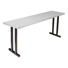 "Alulite Aluminum Training Table (18"" W x 72\"" L)"