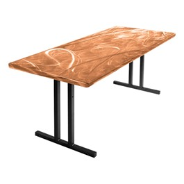 Swirl Aluminum Folding Table