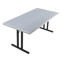 "Alulite Aluminum Folding Table (30"" W x 60\"" L)"
