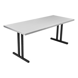 "Alulite Aluminum Folding Table (30"" W x 72\"" L) - Silver"
