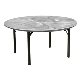 "Round Swirl Aluminum Folding Table (48"" Diameter)"