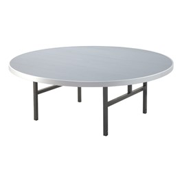 "Alulite Round Aluminum Folding Table (72"" Diameter)"