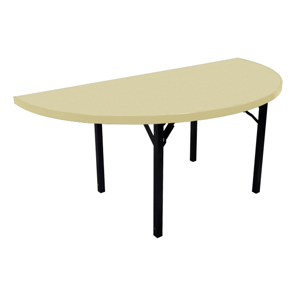 Alulite Half Round Aluminum Folding Table