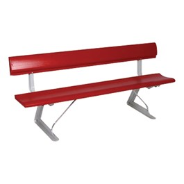 Aluminum Bench w/ Backrest