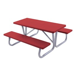 Children\'s Picnic Table - Shown in brite red