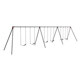 Primary Bipod Swing Set - 8\' H Top Rail - Six Seats (Three Bays)