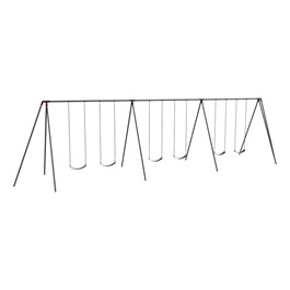 Primary Tripod Swing Set - 8\' H Top Rail - Six Seats (Three Bays)
