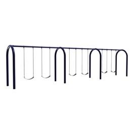 Arch Post Swing Set - Six Seats (Three Bays)
