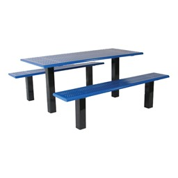 Rectangle Picnic Table w/ Two Benches