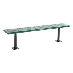 Standard Bench w/o Back - Shown w/ Round Perforations