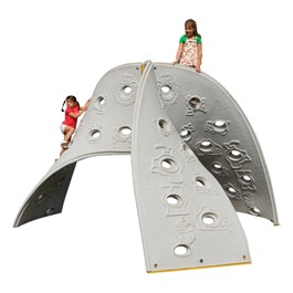 Aztec Play Climber - Three-panel climber shown; accommodates 10 children