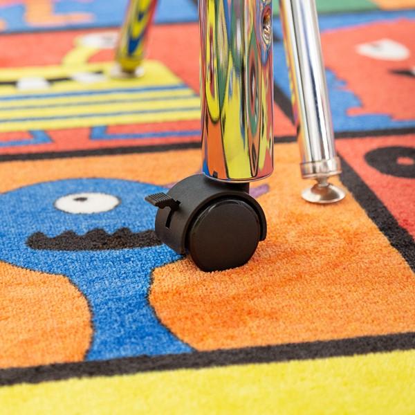 Horseshoe Adjustable-Height Preschool Table - Caster