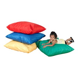 Primary Colors Reading Center - Cozy Primary Floor Pillows