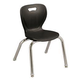"Shapes Series Preschool Chair (14\"" H) - Black"