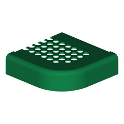 Square Portable Preschool Outdoor Picnic Table - Round Perforation